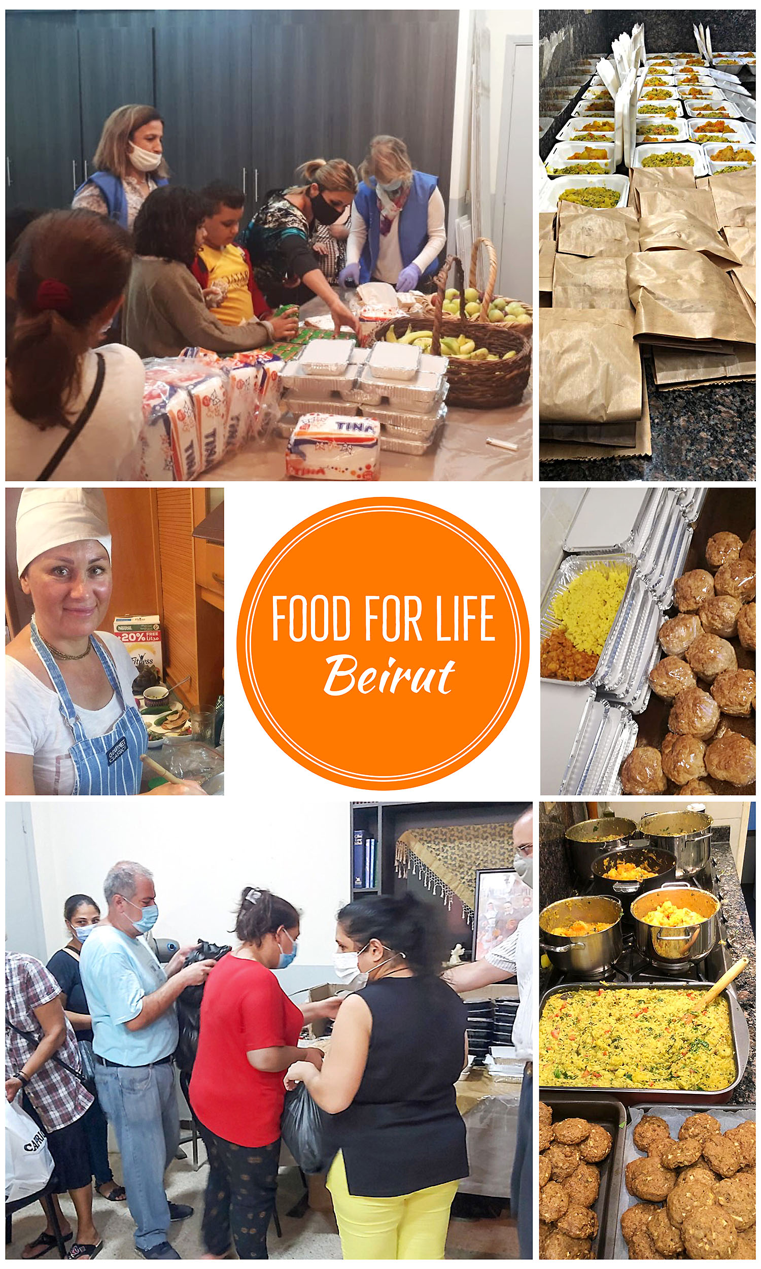 Food for Life Instagram @foodforlife.beirut, charity project, join participate donate for people in need after economic collapse and blast in Beirut Lebanon - home of kirtan Hare Krishna maha mantra